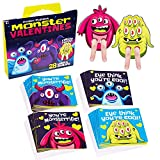 Toys : Red Robin Greetings; Valentine's Day Cards For Kids; Monster Finger Puppet Valentines Cards For Class (28-Count With Envelopes)
