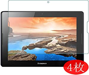 """【4 Pack】 Synvy Screen Protector for Lenovo A7600 Tab A10-70hv A10-8hc 10.1"""" TPU Flexible HD Clear Case-Friendly Film Protective Protectors [Not Tempered Glass] New Version"""