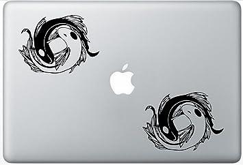 2x Yin Yang Dragon símbolos-pegatina de vinilo calcomanía