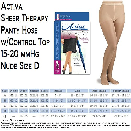 Activa Support Hosiery Pantyhose 15 20 mmHg Nude D H2104 - Pantyhose Panel