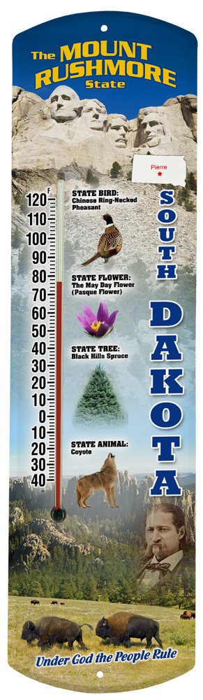 Heritage America by MORCO 375SD South Dakota Outdoor or Indoor Thermometer, 20-Inch