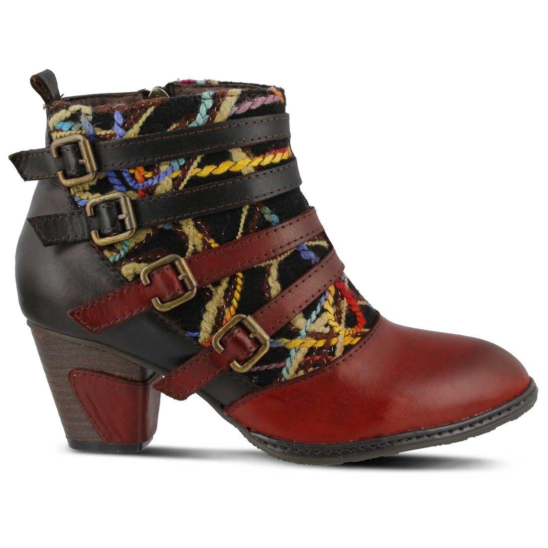 L'Artiste by Spring Step Women's Redding Boot B00XW5FD2A 42 EU/10.5-11 M US Red/Multi