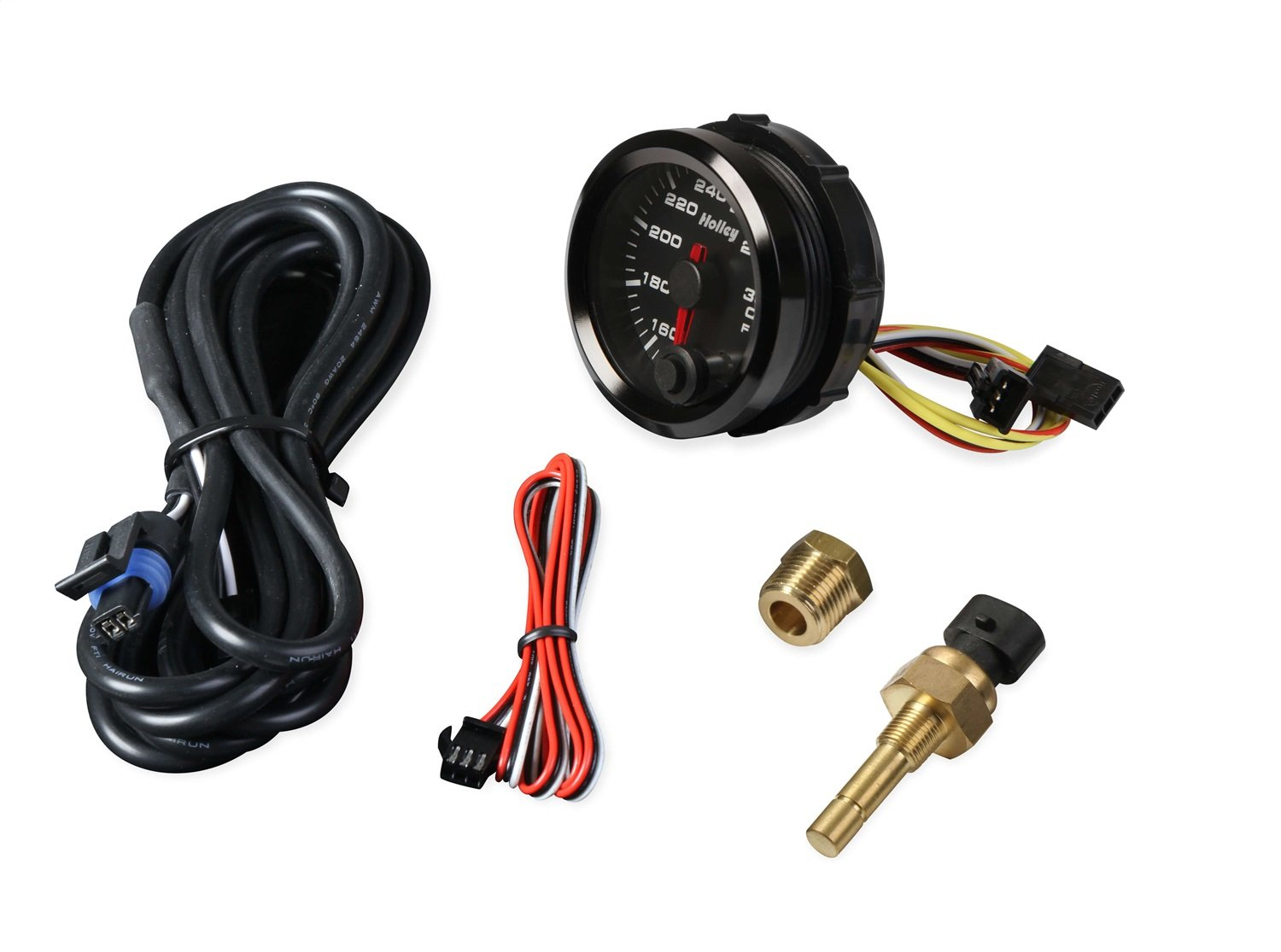 Holley 26-604 Holley Analog Style Oil Temperature Gauge 2 1/16 in. Dia. 140-300 Degree Black Face Black Bezel Holley Logo Holley Analog Style Oil Temperature Gauge