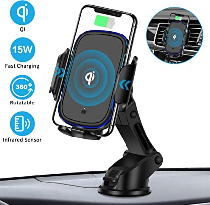 Auto-Clamping Car Mount Air Vent Phone Holder with Aroma Diffuser,7.5W Compatible with iPhone XS Max//XS//XR//X//8//8 Plus,10W for Galaxy S10//S9//S9+//S8//S8+//Note 9//Note 8 CHOE TECHNOLOGY 4351481408 CHOETECH Fast Wireless Car Charger