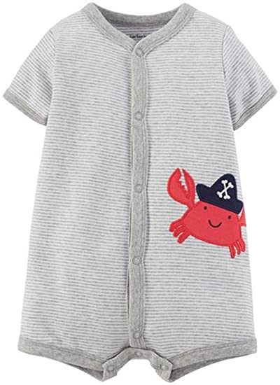 b52d6213a Amazon.com  Carter s Red Crab Romper Newborn  Clothing