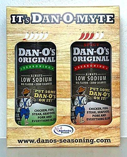 Dan-O's Seasoning Gift Pack - All Natural, Low Sodium, No Sugar, No MSG - Two (2) 3.5 oz Bottles