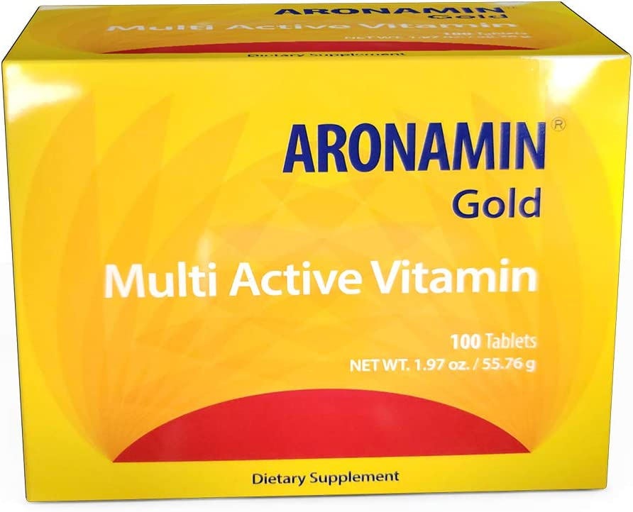Active Vitamin Aronamin Gold – Combats Fatigue, Gives Energy, Promotes Hematopoiesis – 100 Tablets