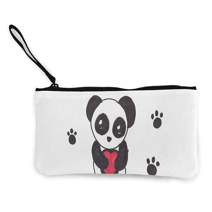 Cartera De Lona Fácil De Dibujar De Pandas Con Cierre Portafolios