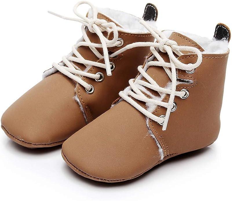 Lurryly❤Newborn Baby Girls Boys Leopard Warm Winter First Walkers Prewalker Anti-Slip Boots