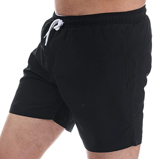 Mens Henleys Plain Pack Swim Short In Black