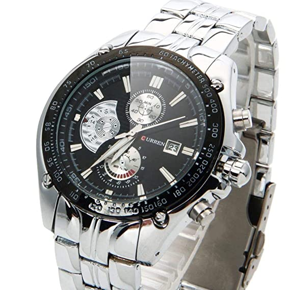 Relojes de hombre CURREN - Relojes deportivos de lujo acero inoxidable - El regalo perfecto - 100% GARANTIZADO: Curren: Amazon.es: Relojes