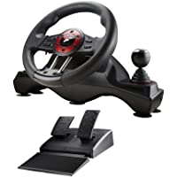 Flashfire 4-in-1 Force Racing Wheel Set, compatible with PC, PS3, PS4 and X-Box One, 270 degree rotation steering wheel PC/Mac/Linux