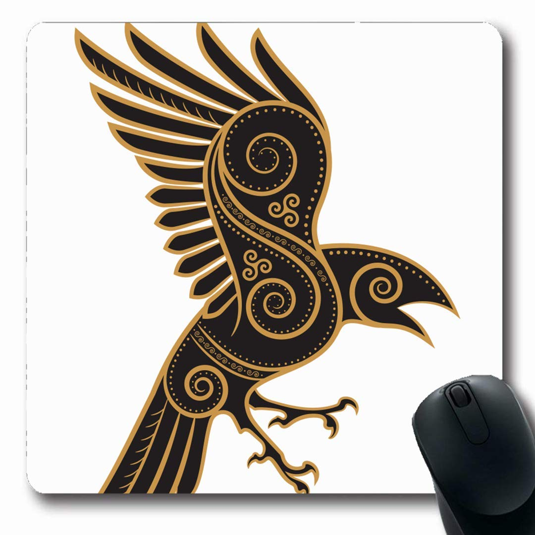 Alfombrillas de ratón Tatuaje Viking Odins Cuervo Handdrawn Celta ...