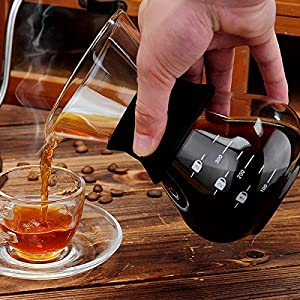 Glass Classic Coffee Pot 400 ML Pour Over Coffeemaker With Steel Filter Percolator Drinkware Kitchen Accessories Coffee Tools