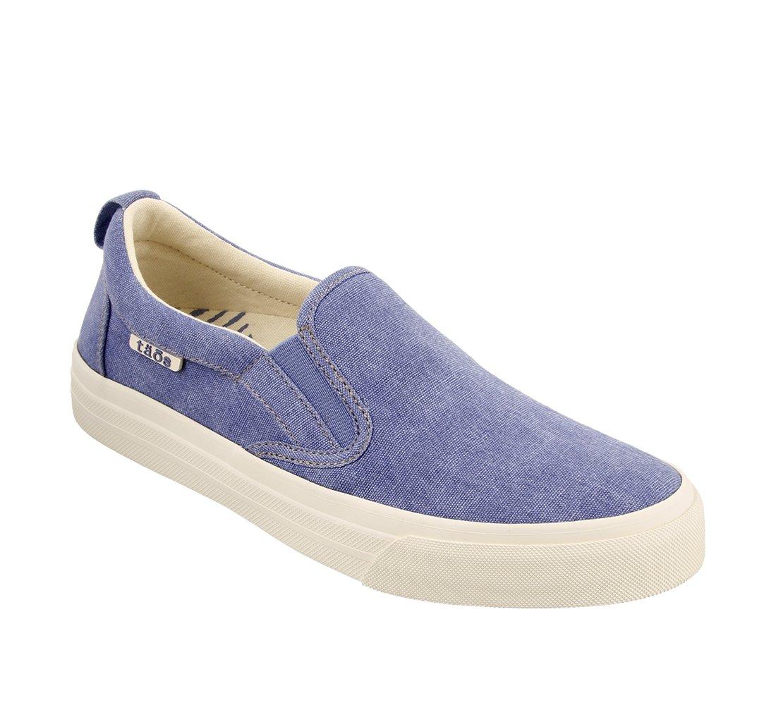 Taos Footwear Women's Rubber Soul Slip On B073MKN4SY 6 M US|Sky Blue Wash Canvas