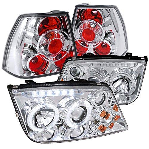 Jetta Chrome Projector Headlights Lights