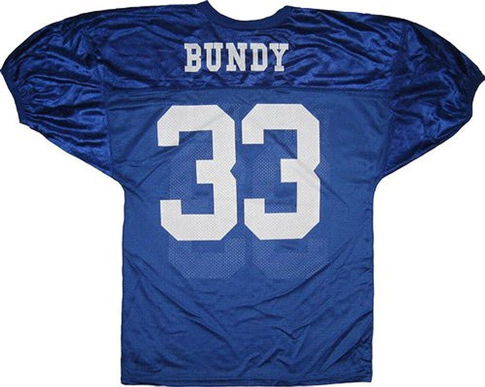 Married with Children Al Bundy Polk High 33 Blue Football Jersey Costume