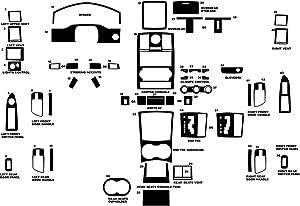 Rdash Dash Kit Decal Trim for Chrysler 300 2008-2010 - Carbon Fiber 3D (Red)