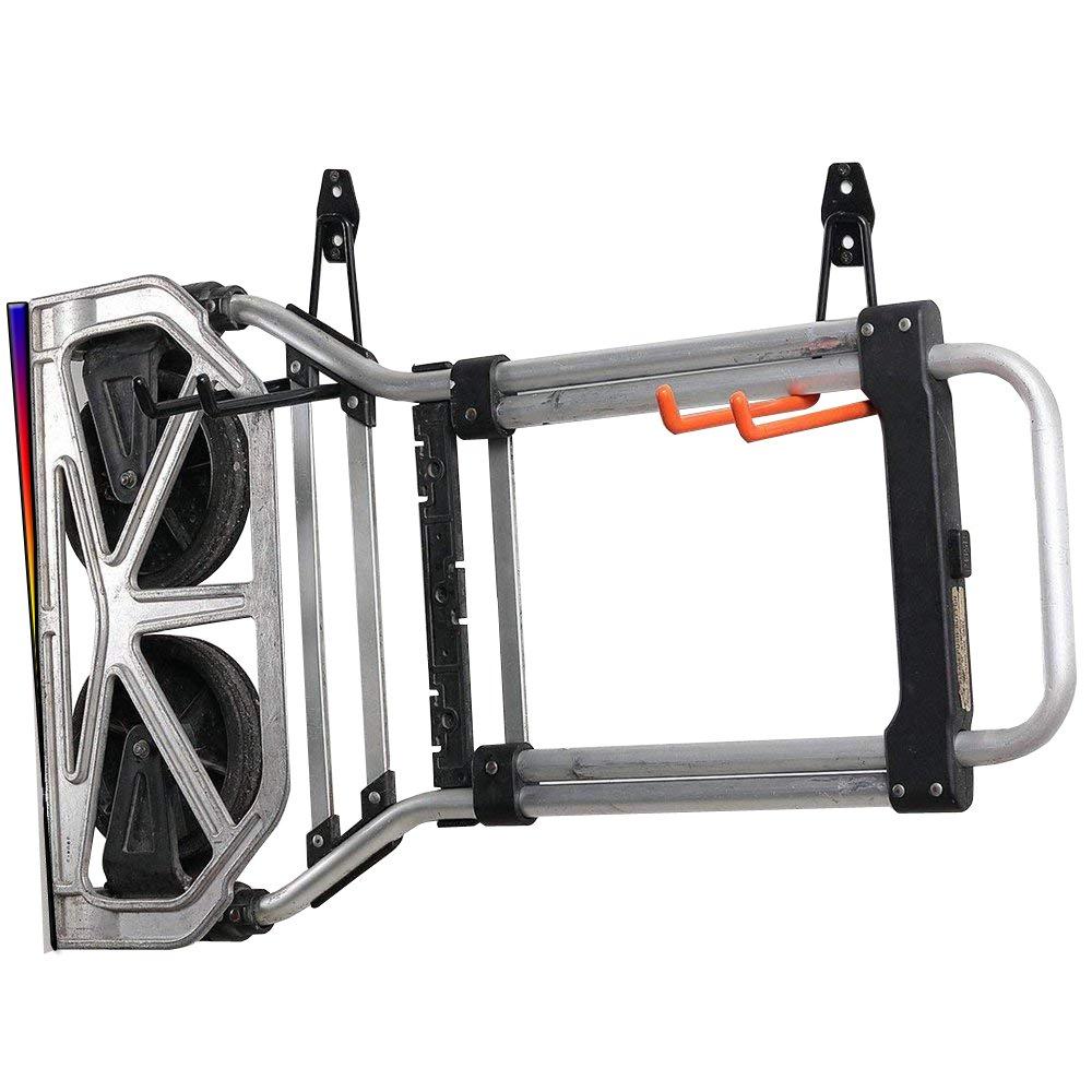 AIYoo 2 Pack Utility Hooks Heavy Duty Garage Storage Extended U-Hook for Ladders & Tools,Wall Mount Garage Hanger & Organizer - Tool Holder U Hook with Anti-Slip Coating Storage Hooks by AIYoo (Image #3)