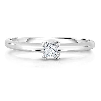 d8d98767ba2fa BLOWOUT SALE NATALIA DRAKE 14K White Gold Princess Cut Diamond ...