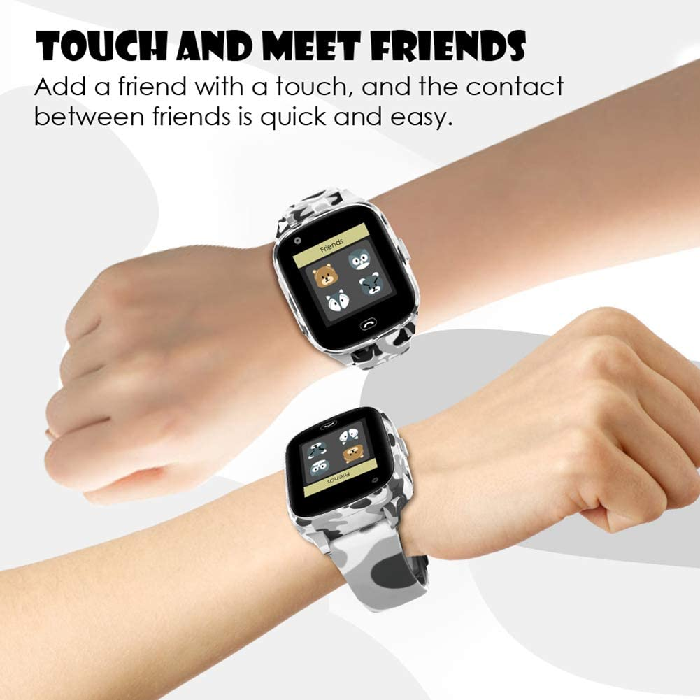 belupai Kids Smart Watches Support GPS WIFI LBS Positioning Camera Voice Chat IP67 Waterproof SOS for Children
