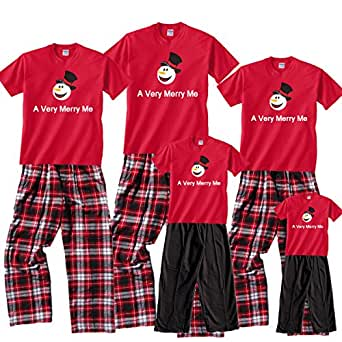 A Very Merry ME Red Pajama Set - Adult Large, S/S, CRB Plaid Pants