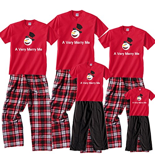 A Very Merry ME Red Shirt Pant Set
