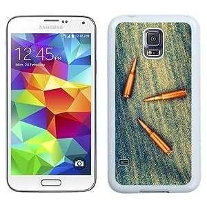 Bullets On Denim (2) Hard Plastic Samsung Galaxy S5 I9600 Protective Phone Case
