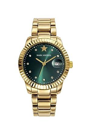 Golden Chic - Reloj de pulsera para mujer con brillantes: Amazon.es: Relojes