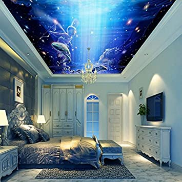 Kuamai Wallpaper 3D Custom Fantasy Sky Angel Flying Fish ...