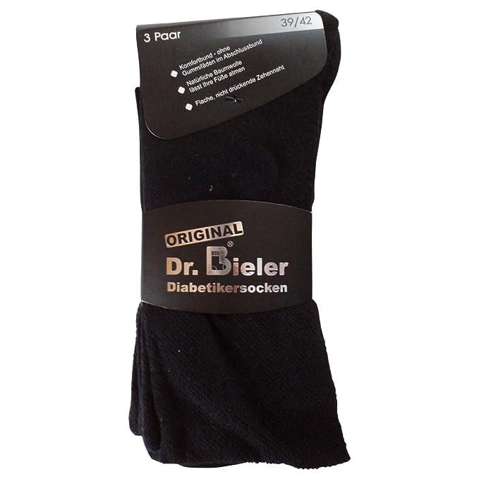 6 pares de calcetines calcetines sin goma diabéticos 98% algodón sin goma negro azul gris: Amazon.es: Ropa y accesorios