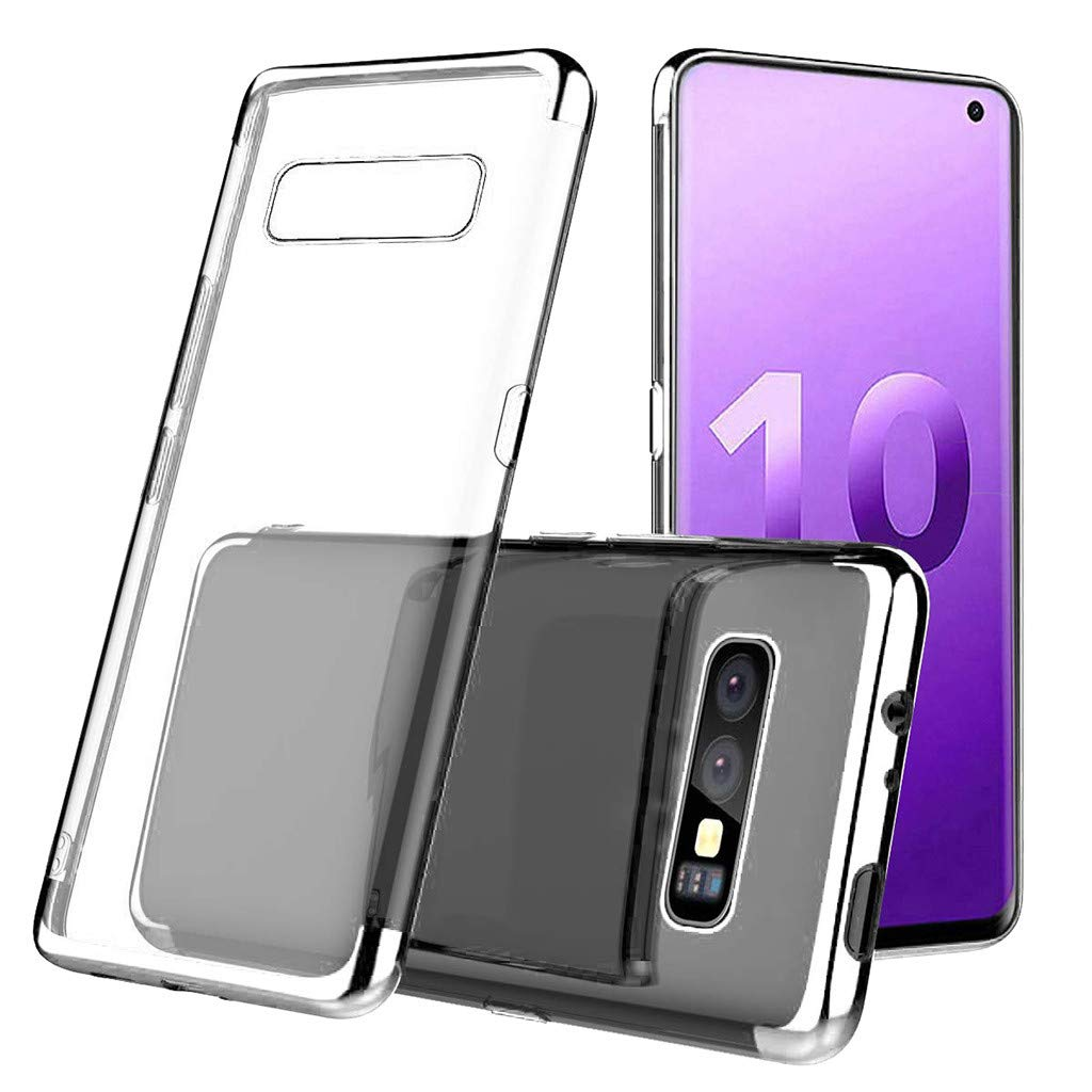 Waterproof-Case-with-Built- Screen-Protector,For Samsung-S10e -5.6inch-Clear-Case,Shock-proof-Protective-TPU-Gel Cover (Silver)