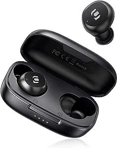 Mini Auriculares Inalámbricos,UGREEN HiTune Lite Auriculares Bluetooth 5.0 con Bajo Profundo, Mic Incorporado, HiFi Estéreo TWS Auriculares Deportivo IPX5 Impermeable, 15H Reprodución, Control Táctil
