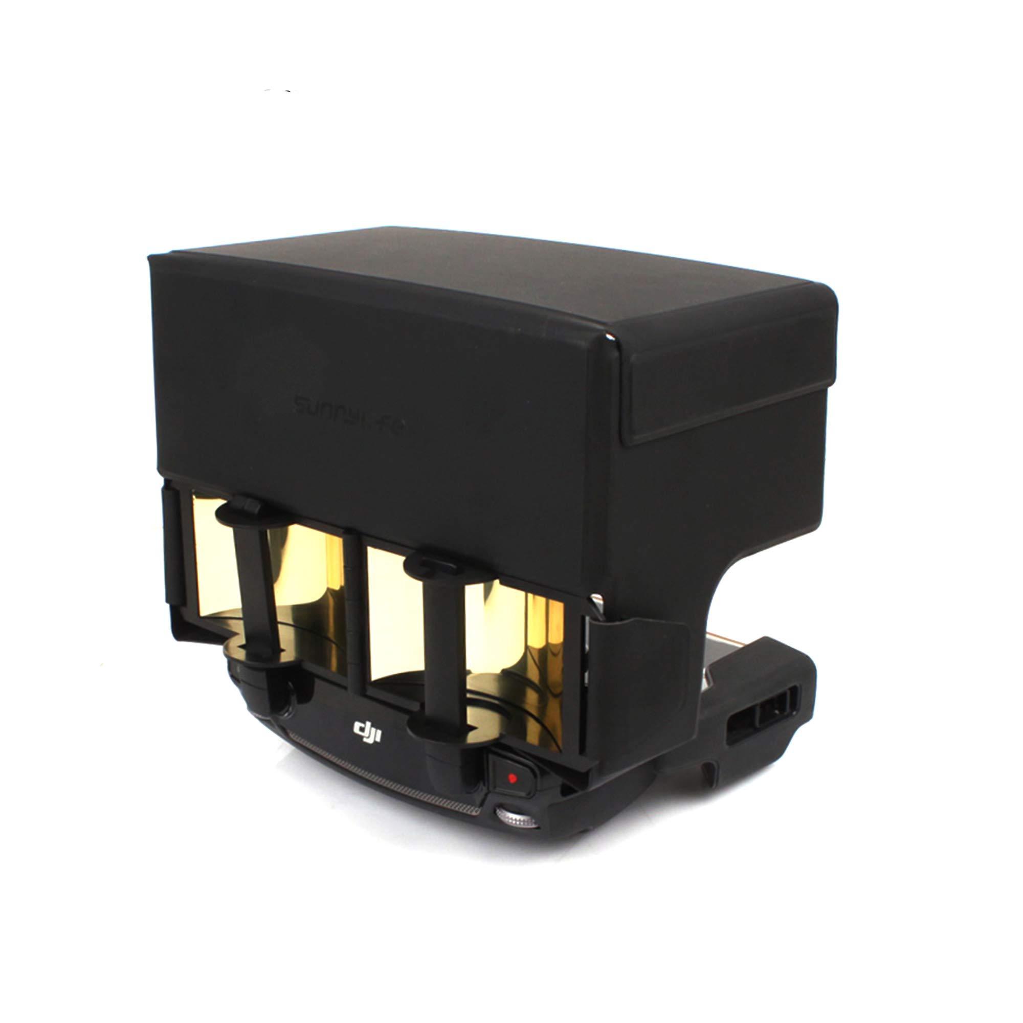 Combo de refuerzo de señal O'woda: extensor de rango de señal de antena parabólica plegable + cubierta de protector sola