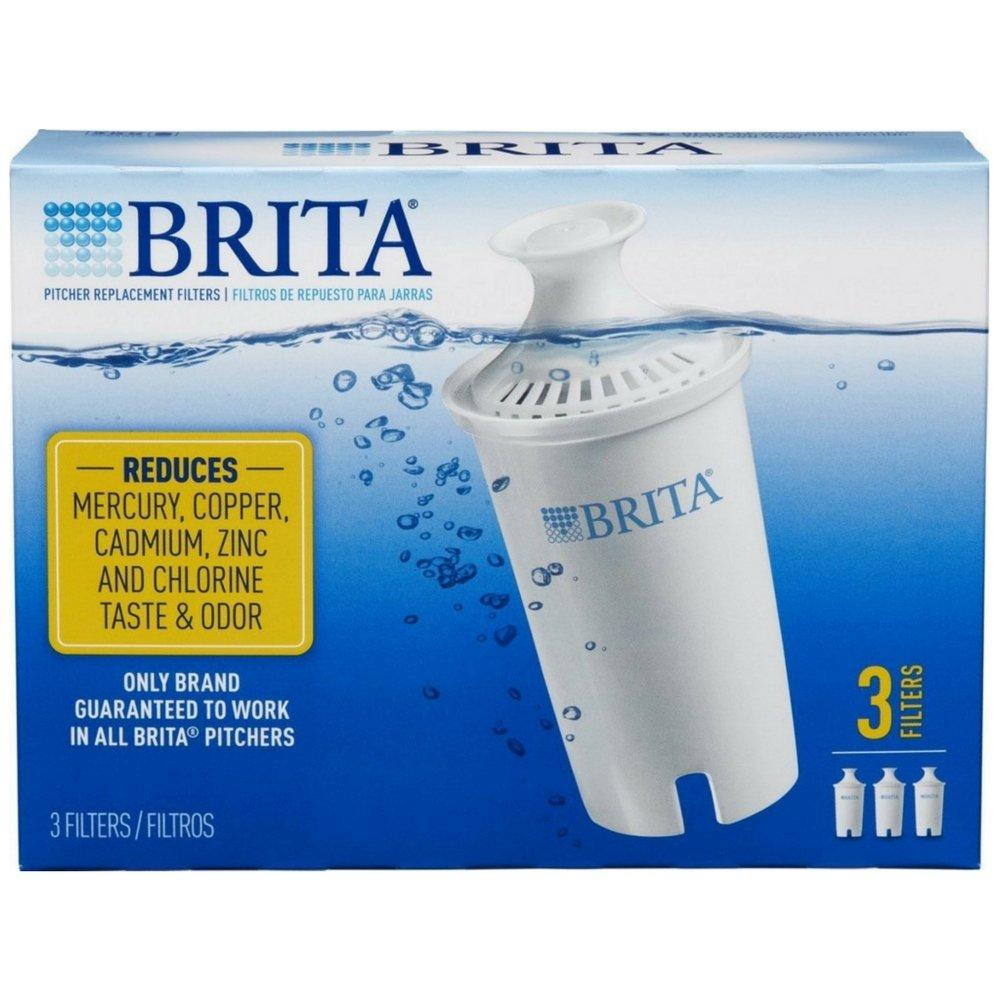 Amazon.com: Brita Water Pitcher Replacement Filters, White 3 ea ...