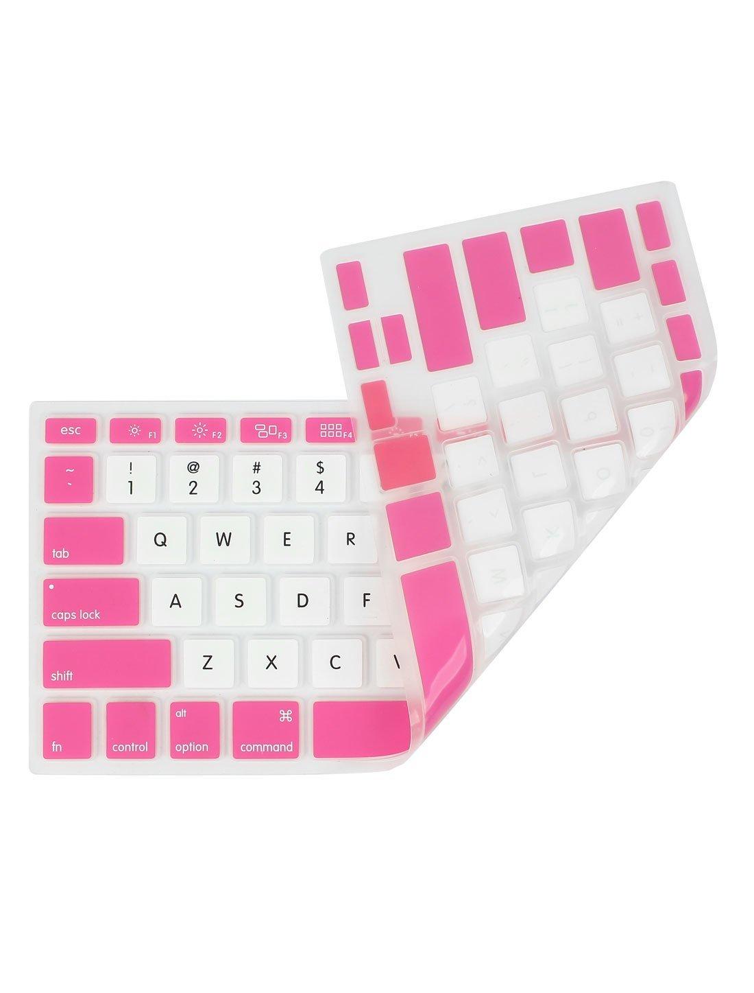 Amazon.com: eDealMax Blanco Rosa PC protectora de la piel del teclado de Cine Para Apple MacBook Air 13,3: Electronics