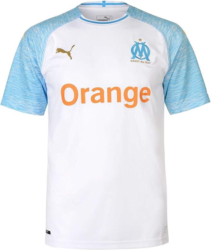 PUMA Olympique de Marseille Home - Camisetas de equipación Hombre: Amazon.es: Ropa y accesorios