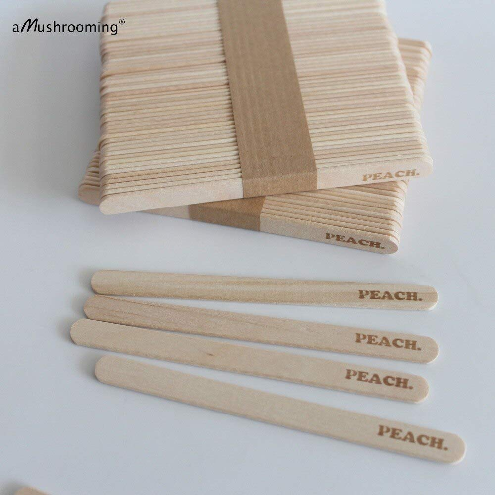 Moonnight Store Customized Popsicle Sticks Ice Cream Sticks Personalized Wooden Sticks 1000 pieces Craft Popsicle Stick Wedding Party Logo PEACH (customized) by Moonnight Store (Image #4)