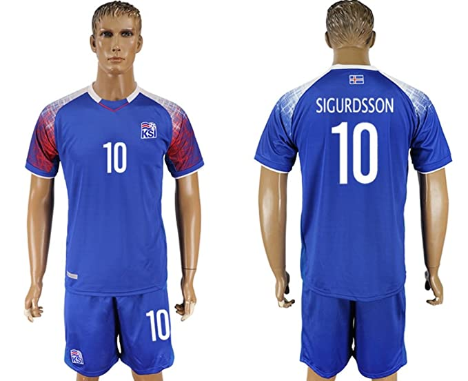 4c233ae17 2018 Russia World Cup Iceland Home Men s Soccer Jersey (L ...