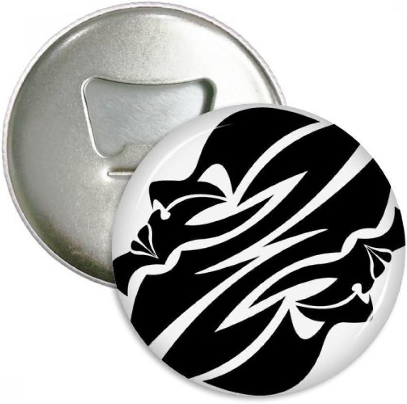 Constellation Gemini Zodiac Symbol Bottle Opener Fridge Magnet Emblem Multifunction Badge