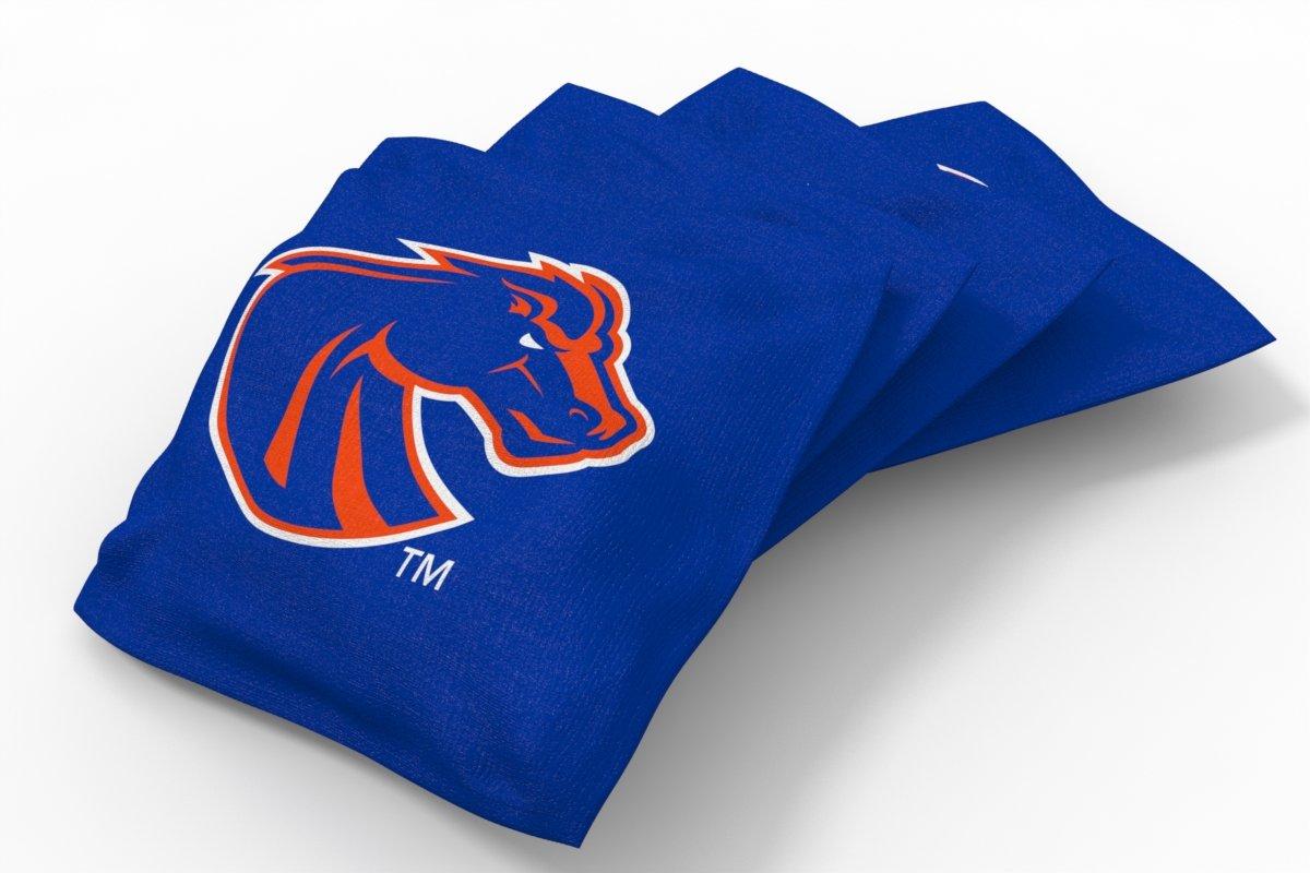 Wild Sports NCAA College Boise State Broncos Blue Authentic Cornhole Bean Bag Set (4 Pack)