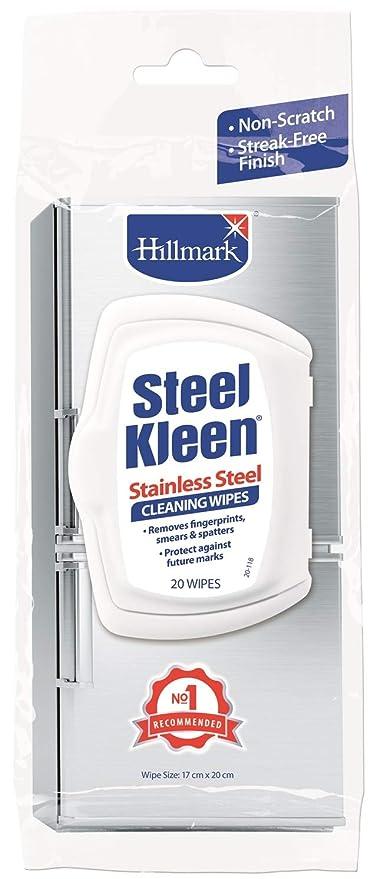 hillmark steelkleen 20 toallitas de limpieza de acero ...