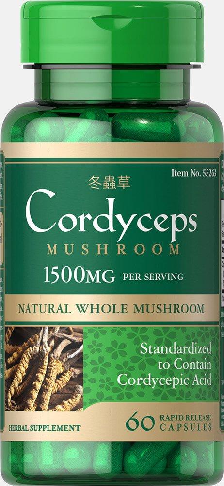 Puritan's Pride Cordyceps Mushroom 1500 mg-60 Capsules