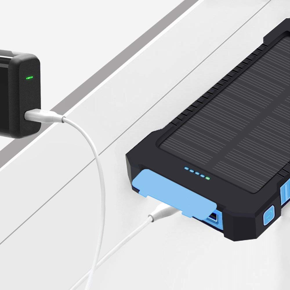 Solar Charger 10000mAh Portable Power Bank X-DNENG DN22-D