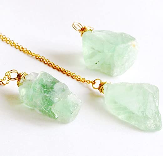 natural itm rainbow necklace pendant rock image loading irregular stone is quartz crystal jewelry s