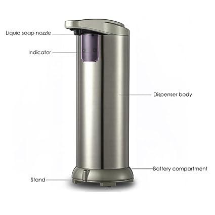 Nueva 280 ml Simplehuman dispensador de jabón Ducha Dispensador de jabón automático Sensor de acero inoxidable