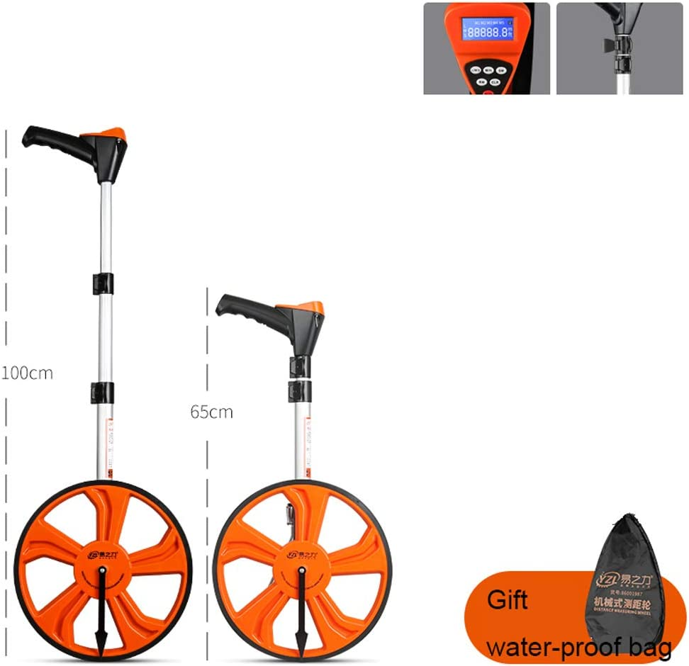 Hao-zhuokun 32cm Measuring Wheel,Mechanical Distance Measuring Wheel With Foldable Handle Measure Road Land Builders Workers,0~9999.9m Digital