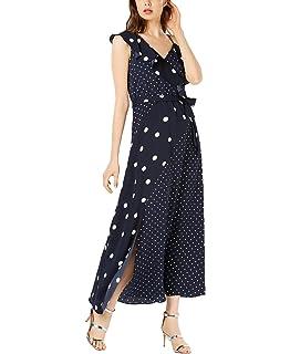 bar III Womens Mixed-Stripe Fit /& Flare Dress