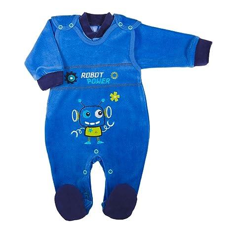 Niños Pelele y chaqueta terciopelo azul azul azul Talla:56 ...