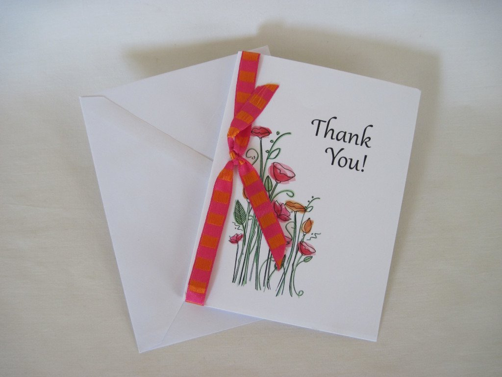 Amazon Handmade Creative Blank Thank You Greeting Card Gift On